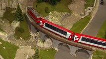 Model Railroad with Glacier Express and Cab Ride | Pilentum Television - The world of model trains