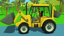 Machines de Construction Pour Bébé | Excavatrice Rue Véhicules | Bajki Koparki dla Dzieci