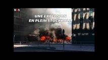 En plein Stockholm, les images impressionnantes de l'explosion d'un bus