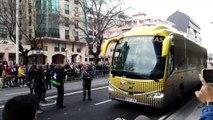 Deportivo - Las Palmas: Llegada de Las Palmas a Riazor
