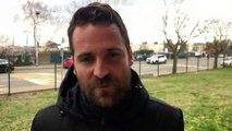 R1 (17ème journée) – Clément GUILLOT réagit après le nul de MDA Foot contre le FC DOMTAC