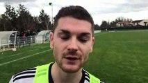R1 (17ème journée) – Florian ODIN réagit après le nul du FC DOMTAC à MDA Foot B