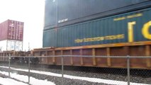 CSX Stack Train near Destiny USA with one engine in Rear End