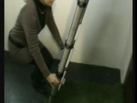 Vidéo de l'échelle telescopique grenier et  déploiement