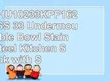 Kraus KHU10233KPF1621KSD30SS 33 Undermount Double Bowl Stainless Steel Kitchen Sink