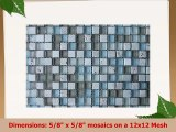 10 Sq Ft  Bliss Spa Stone and Glass 58 x 58 Square Mosaic Tiles  bathroom walls