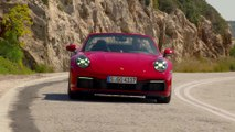 Porsche 911 Carrera 4S Cabriolet in Guards Red Driving Video