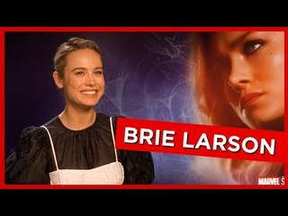'It kind of breaks my brain!': Brie Larson talks young girls playing with her Captain Marvel doll