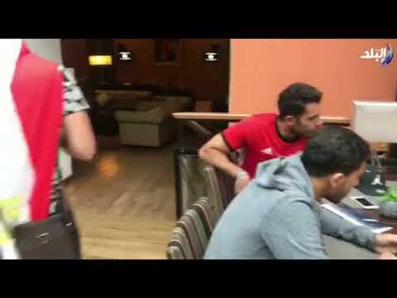 صدى البلد - مشاهد ولقائات حصرية من قلب فندق المنتخب المصري قبل مواجهة روسيا