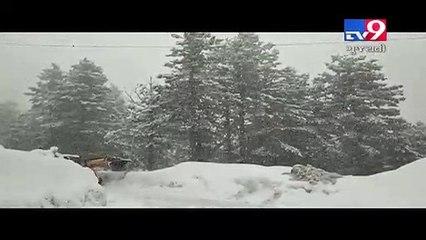 Jammu and Kashmir turns fairyland after fresh snowfall- TV9