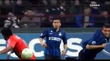 Le contrôle du dos, puis but de Brandao contre l'Inter...