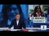 Los abucheos son aberrantes: Yeidckol Polevnsky   Noticias con Ciro Gómez Leyva