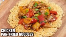 Pan-Fried Noodles Recipe - How To Make Chicken Pan Fried Noodles - Tarika