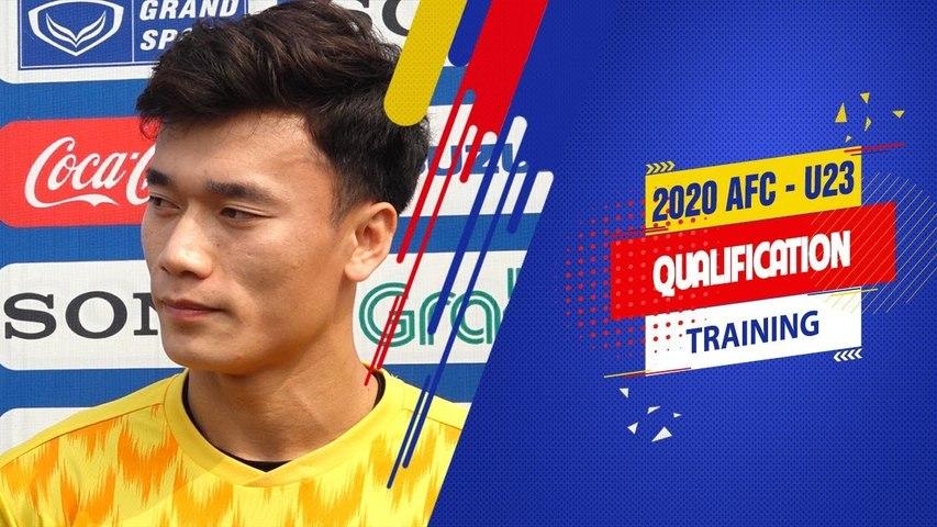 Bùi Tiến Dũng tự tin cùng đồng đội đánh bại U23 Thái Lan, giành ngôi đầu bảng K | VFF Channel