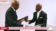 Signature de contrat de parrainage entre le comité National Olympique de Côte d'Ivoire et la CGECI pour mieux préparer les jeunes athlètes ivoiriens aux jeux olympiques de la jeunesse de 2022 ok