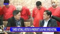 7 Chinese nationals, arestado sa pandurukot sa isa pang Chinese national