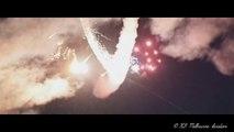 Feu d'artifices et lasers envoyés d'un avion en vol au-dessus d'un festival de musique électro !
