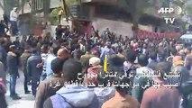 تشييع فلسطيني توفي متأثرا بجروح أصيب بها في مواجهات قرب حدود قطاع غزة
