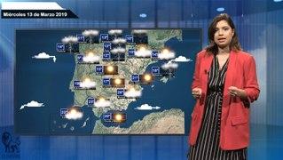 El tiempo pronostico para el miercoles 13 de marzo