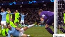 Sergio Aguero Penalty Goal - Manchester City vs Schalke 04 1-0 12/03/2010