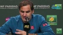 """ATP - Indian Wells 2019 - Roger Federer : """"Je suis super heureux pour Belinda Bencic, elle le mérite"""""""