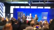 Moment d'humour lors du discours de Christophe Castaner en visite à Besançon