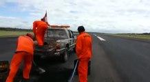L'avion évite de justesse l'accident à atterrissage