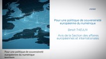 """""""Pour une politique de souveraineté européenne du numérique"""" - cese"""
