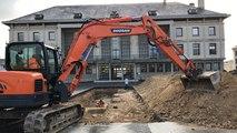 Les fouilles préventives se poursuivent au pied de l'hôtel de ville