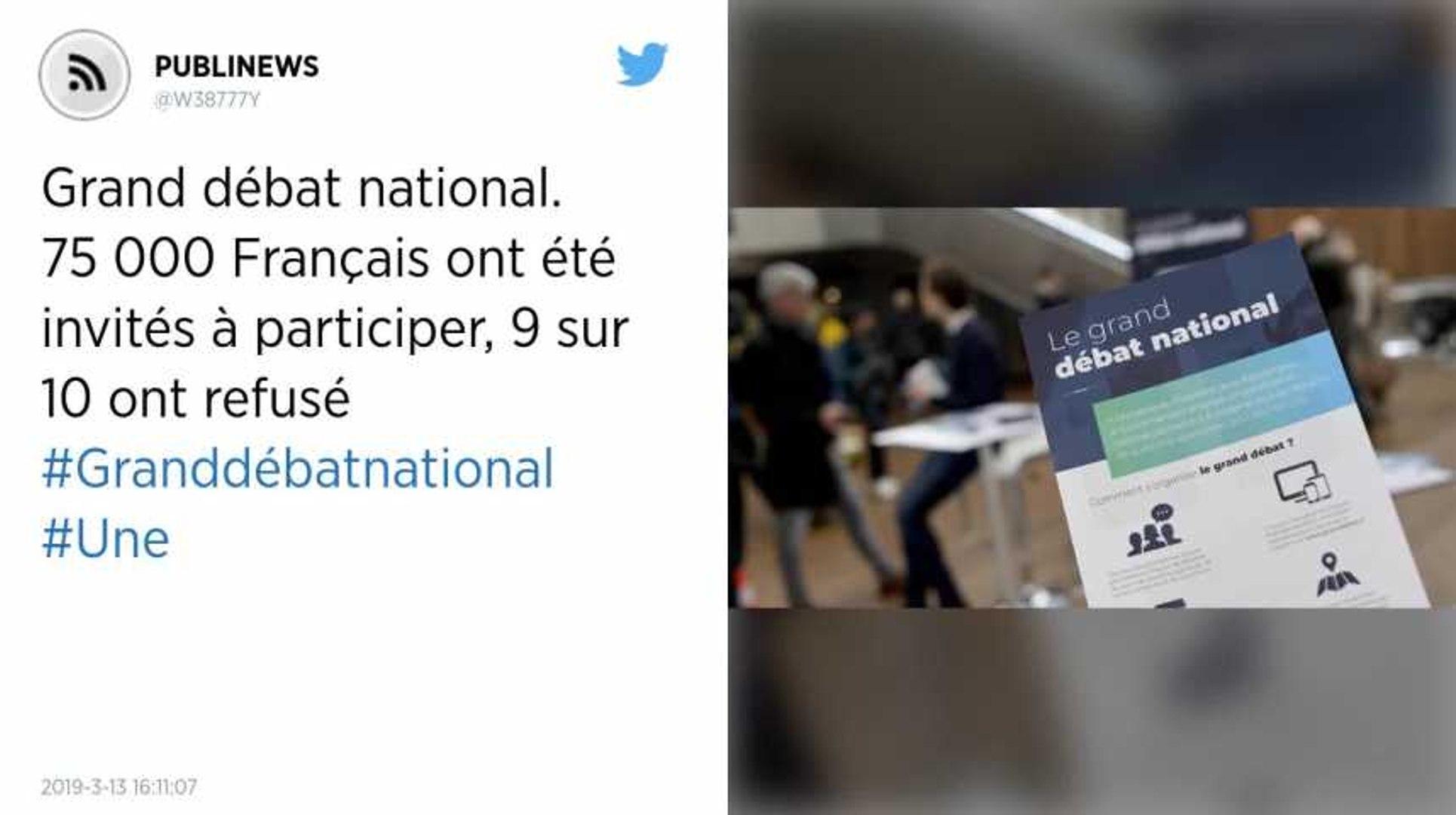 Grand débat national. 75 000 Français ont été invités à participer, 9 sur 10 ont refusé.