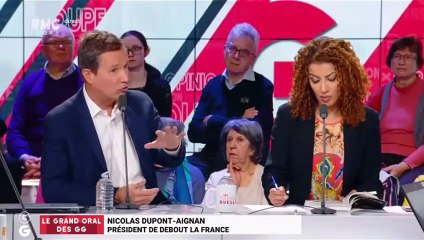 Nicolas Dupont-Aignan invité des Grandes Gueules sur RMC