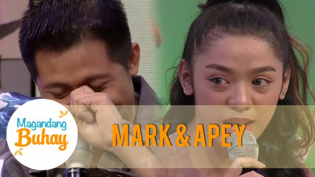 Mark and Apey are emotional after giving a message to each other   Magandang Buhay