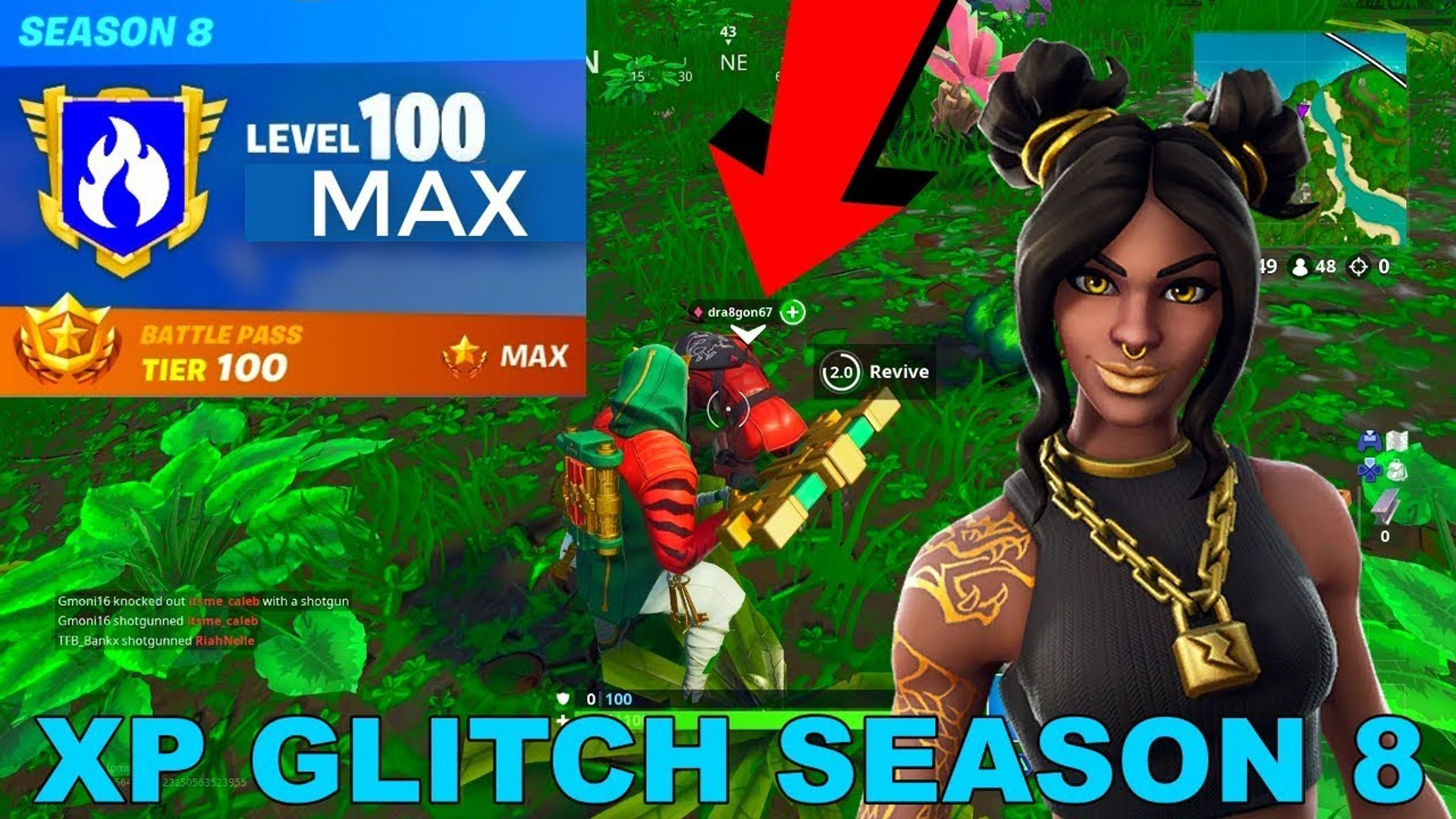 Massive Xp Glitch How To Level Up Fast In Fortnite Season 8 Video Dailymotion A fortnite glitch affecting experience is allowing players to complete all the challenges in the game quickly and easily by heading into creative mode, making for a massive windfall of xp. massive xp glitch how to level up fast in fortnite season 8