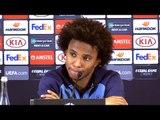 Willian Full Pre-Match Press Conference - Dynamo Kiev v Chelsea - Europa League