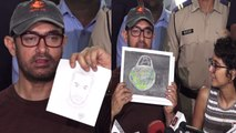 Aamir Khan gets wonderful gift by wife Kiran Rao & son Azad Rao ;Watch Video   FilmiBeat