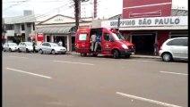 Siate atende batida com moto na Rua São Paulo