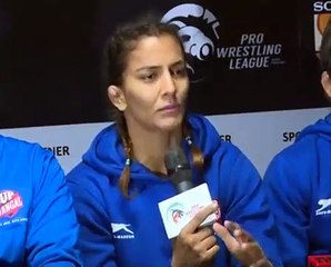 PWL 3 Day 11: UP Dangal briefing the media after the victory against Veer Marathas