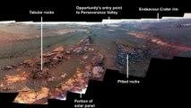 Esta es la última imagen del rover Opportunity de la NASA un hermoso panorama de Marte