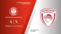 AX Armani Exchange Olimpia Milan - Olympiacos Piraeus Highlights | EuroLeague RS Round 26