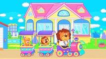 Famille De Lions Surprise Pour Les Petits Lions De Dessin Animé Pour Les Enfants