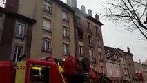 Feu d'habitation au troisième étage du 27 rue Louis Barthou à Saint-Max