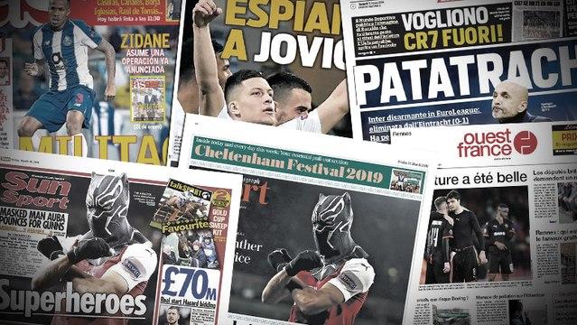La célébration masquée d'Aubameyang amuse les Anglais, Luka Jovic espionné par le FC Barcelone