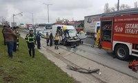TEM Otoyolu Hadımköy Gişeler'de kaza