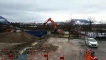 L'hélistation du Centre hospitalier Annecy Genevois est en cours de démolition