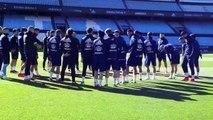 Celta-Real Madrid: Entrenamiento del Celta de Vigo en Balaídos