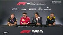 F1 2019 Australian GP - Friday (Team Principals) Press Conference