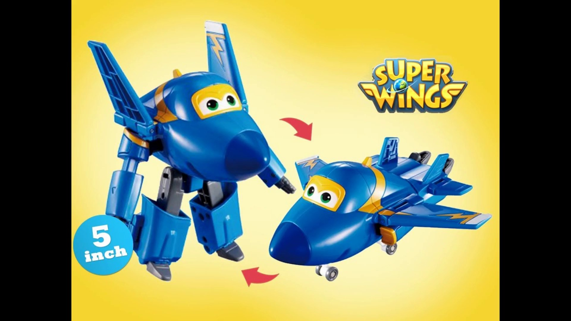 Super Wings Jerome Transforming Robot Airplane 5 inch 출동슈퍼윙스 신제품 장난감 - Unboxing Demo Review