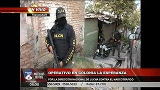 Direccion nacional de lucha contra el narcotrafico realiza operativo en Colonia La Esperanza