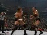 Taker, Rock, Kane vs Vince, Shane, HHH (WWF Title Match) par