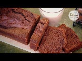 Bizcocho de yogur y chocolate fácil